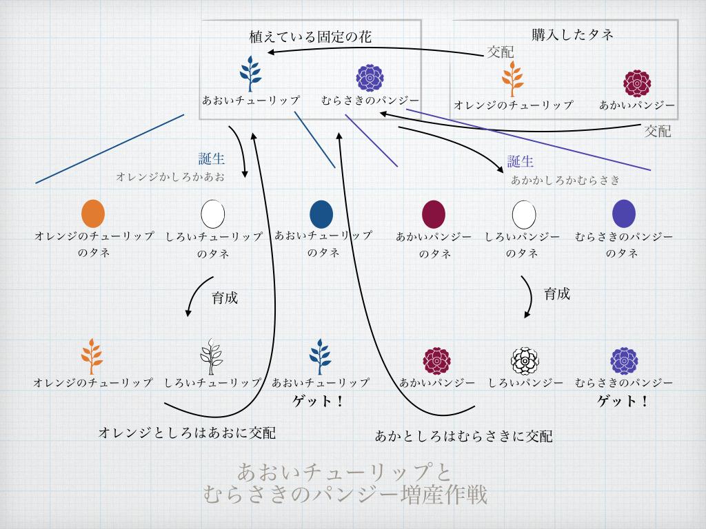 ポケ森ガーデン作戦1